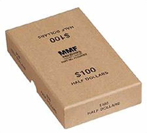 MMF Industries Chipboard Coin Storage Box for Half Dollars, 100 Dollar Capacity, Tan (211045003)