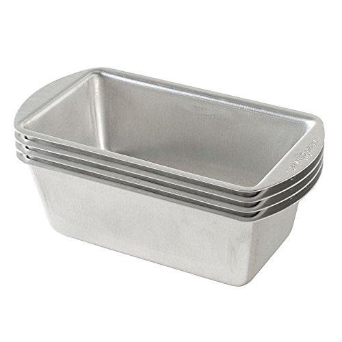 (Nordic Ware Natural Aluminum Commercial Mini Loaf Pans, Four 2-Cup)