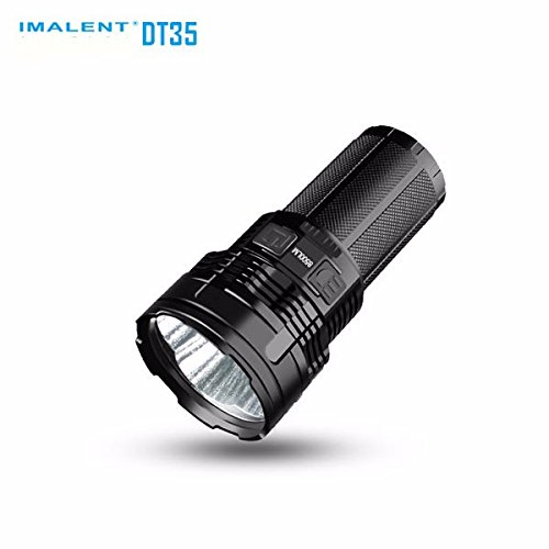 Super bright torch IMALENT DT35 Max. 8500LM 4 CREE XHP35 HI LEDs 1000 meter throw flashlight with 4pcs 18650 3000mAh batteries by IMALENT