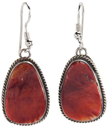 Navajo Native American Orange Spiny Shell Earrings by Salena Warner - Orange Spiny Shell