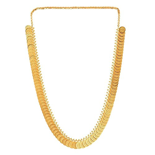 YouBella Jewellery Bollywood Ethnic Gold Plated Traditional Indian Necklace Chain for Women and Girls