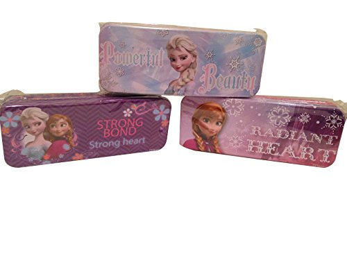 (Set of 3 - Frozen Princess Pen, Pencil, and Marker Cases - Tin - 8 Inch)