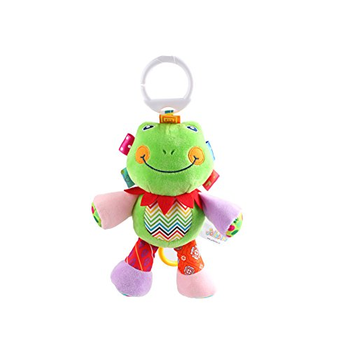 X-star Cute Animal Shape Design Bell Rings Toys Multifunctional Solf Baby Rattle Toys (frog)