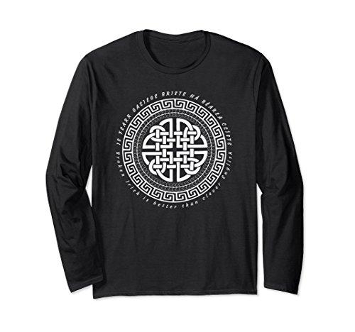 Medium Celtic Circle - Unisex Gaelic T-Shirt Celtic Knot Circle Broken Irish Ireland Medium Black