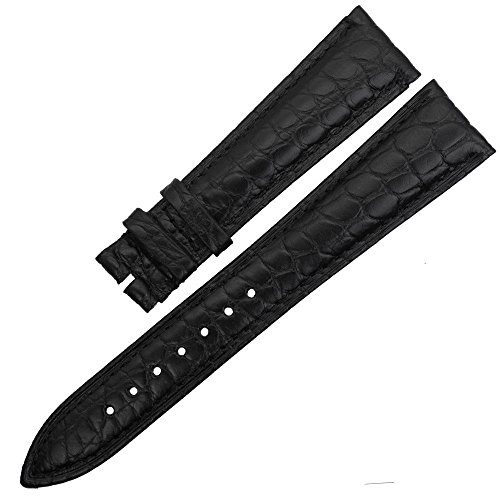 ZLIMSN Customized Leather Watch Band Crocodile Wristwatch Strap Replacement Brown 12mm 13mm 14mm 16mm 18mm 19mm 20mm 21mm 22mm 23mm 24mm 26mm(Width 20mm)