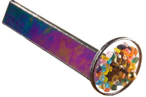 (J Devlin Kal 102 Tumble Wheel Kaleidoscope Black Iridescent with Glass Chips)