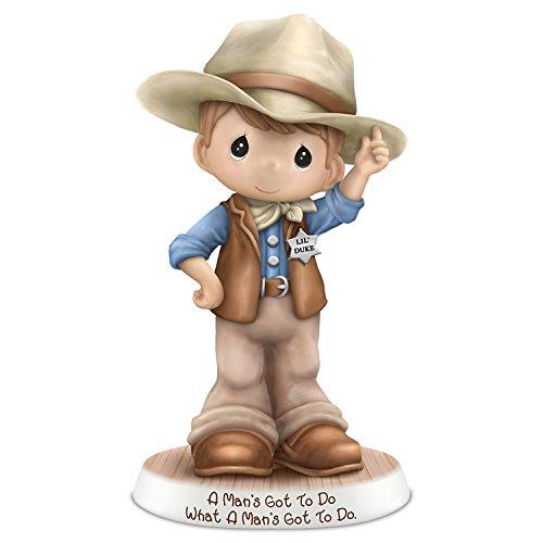The Hamilton Collection Precious Moments John Wayne Tribute Cowboy Figurine: Hamilton Collection