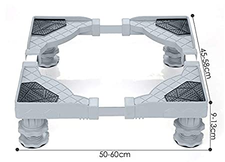 RENNICOCO Refrigerador de Acero Inoxidable Base de la Lavadora Base de Lavadora portátil Secadora Soporte Multifuncional móvil con Base Ajustable de 4 ...