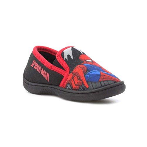 Spiderman Shoes For Kids (Spiderman Kids Navy and Red Slip On Slipper - Size 11 Child UK / 12 Kids US - Multicolour)