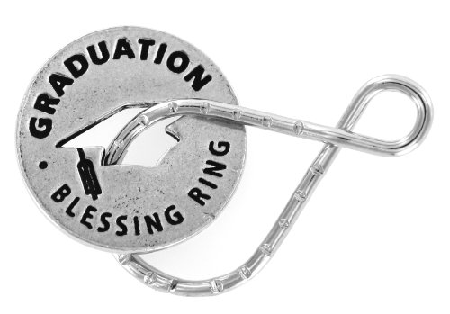 - Graduation Reversible Blessing Ring Keychain