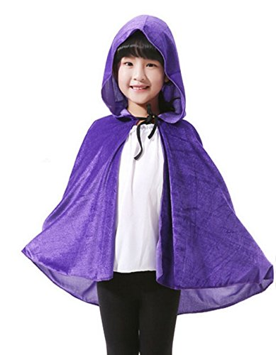Children Hooded Cloak Halloween Costumes Ghost Cape Cosplay Role Play Dress Up (Spirt Halloween Costume)