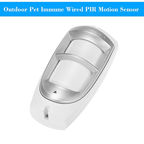 Pet Immune Wired PIR Motion Sensor OWSOO Passive Infrared Detector Dual PIR Detector Outdoor Weather Proof for Home Burglar Security Alarm System