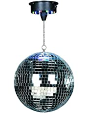 Ibiza DISCO1-30 discobal/spiegelbal met motor, zilverkleurig