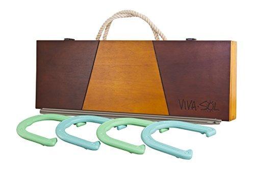 Viva Sol Premium Horseshoes Set with Wooden Case B013XRVBQI