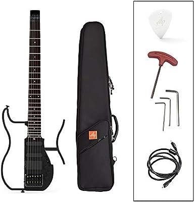 TIANQING Guitarra eléctrica de Viaje sin Cabeza Plegable, Guitarra ...