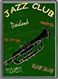 FRENCH VINTAGE METAL SIGN 30x20cm JAZZ CLUB AMBIANCE TRUMPET