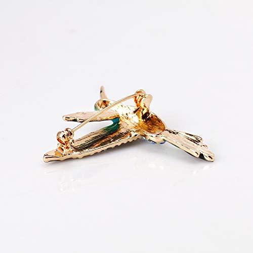 Lumanuby Personalidad broche animal colibr/í aleaci/ón de cristal pin hombres y mujeres pin ropa decoraci/ón boda fiesta de bodas regalo de vacaciones