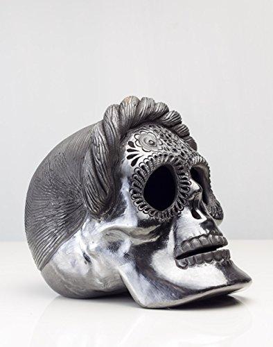 Frida Kahlo Catrina Day Dead Black Pottery Barro Negro Oaxaca Dona Rosa Skull Candy