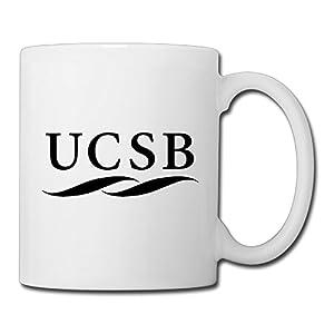 Christina University Of California Santa UCSB Logo Ceramic Coffee Mug Tea Cup White