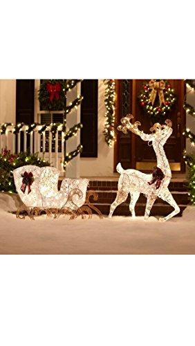 Outdoor Lighted Deer Sculpture in US - 8