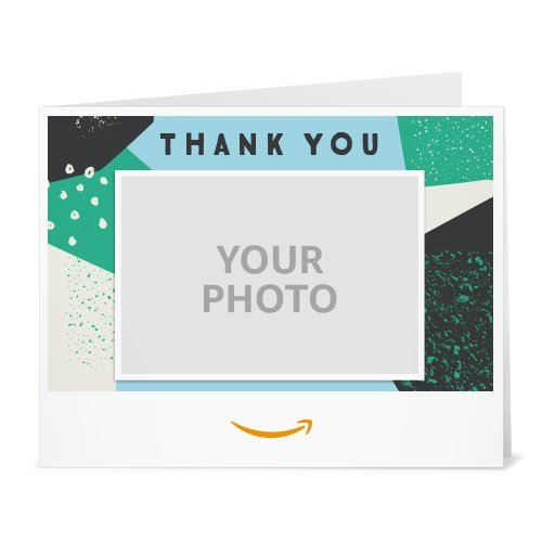 Amazon Gift Card - Upload Your Photo (Print) - Thank You Pattern