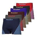Men's Both Side Stripes Printed Nylon Stretchable Boxer 6-Pcs Set, One Size, Asst
