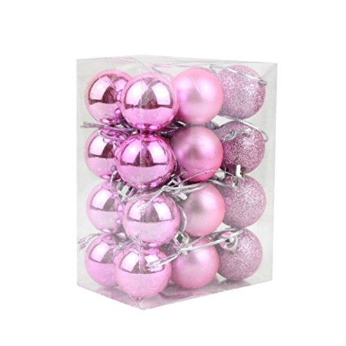 EXIU 24pcs Christmas Balls Ornaments for Wedding
