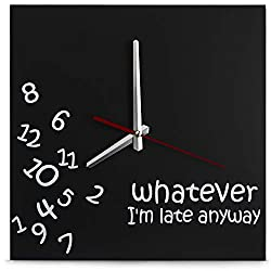 Decodyne Whatever I'm Late Wall Clock