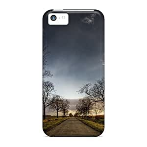 High Quality Shock Absorbing Cases For Iphone 5c-lonely Road Hd