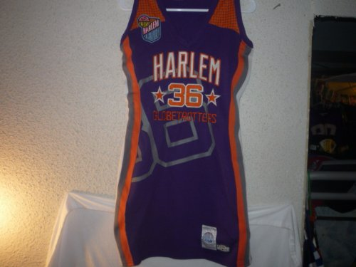 VINTAGE LIMITED EDITION HARLEM GLOBETROTTERS ALL STITCHED BASKETBALL JERSEY- ADULT SMALL (Harlem Globe Trotters Basketball)