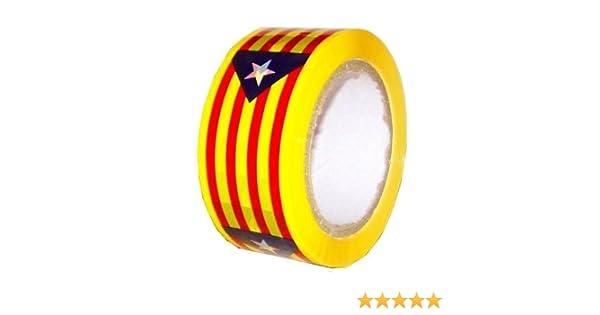 Rollo Cinta Adhesiva bandera Estalada indépendantiste catalán formato embalaje mudanzas 100 M: Amazon.es: Bricolaje y herramientas