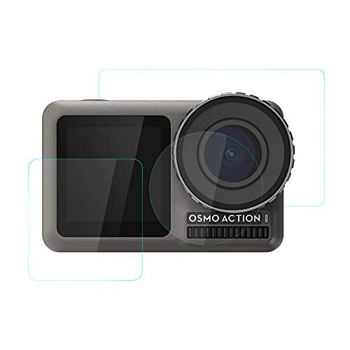 -  Orcbee  _3Set 9H Tempered Glass Film Dual Screen Protector Camera Lens for DJI OSMO Action 4K Camera
