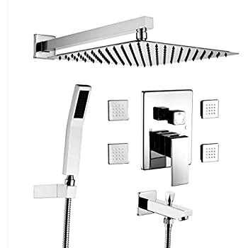 Back To Search Resultshome Improvement Uythner Wall Mounted Brushed Nickle Shower Column Shower Panel W/ Hand Shower Jets Tub Plate Shower Faucet Mixer Tap Shower Equipment