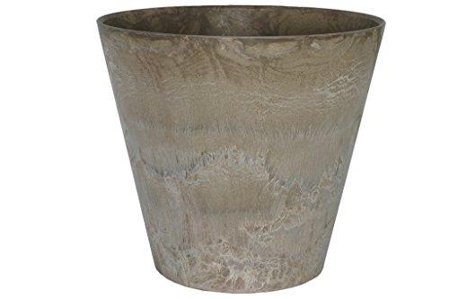Artstone Pflanzgefäß Pflanzkübel Claire, frostbeständig und leichtgewichtig, Taupe, 43x39cm