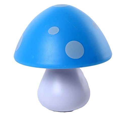 Baby LED Plug In Animal Cartoon Sensor Night Light for Kids Toddler by Smartdude (Blue Mushroom)