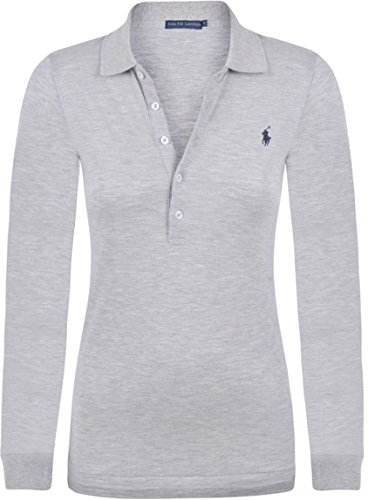 purchase cheap fcf47 e271f Polo Ralph Lauren | Damen Poloshirt - langarm | Grau | Small ...