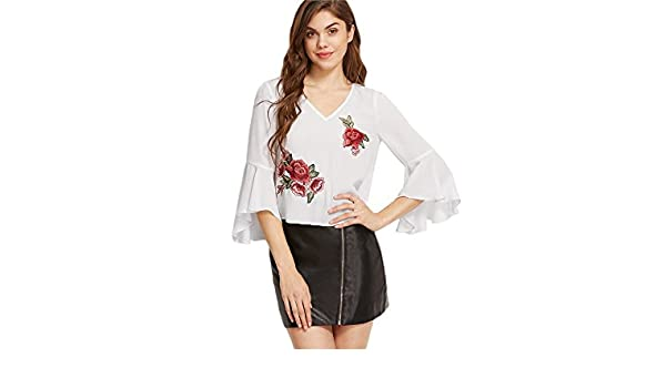 Carolina Dress Blusas De Mujer De Moda 2017 Tops Ropa Para Mujer Elegante Casuales at Amazon Womens Clothing store: