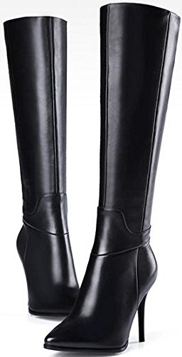 Knight Women's Boots Laruise Black Leather 60q4nwF