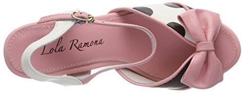 pink Col 65 Aperta Donna Scarpe Angie Lola cream Punta Ramona Tacco Rosa fgznqpx