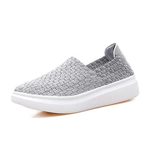 Hasag Zapatos Ocasionales Hechos a Mano de los nuevos Zapatos de Las Mujeres de Four Seasons Zapatos Ocasionales de la Moda,