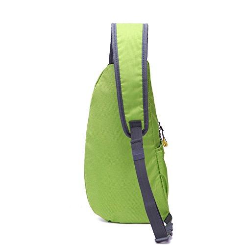 Wewod Hombro Al Aire Libre del Recorrido del Bolso de Múltiples Funciones Ocasional de Los Hombres del Cuerpo Pecho Mochila para El Ciclismo , Senderismo 18 x 29 x 7 cm (L*H*W) Verde