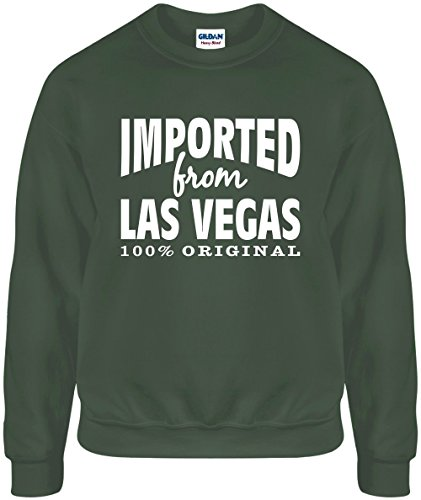 Imported From LAS Vegas (Original) XL Funny Mil Green - Of Vegas Mile Las Shops