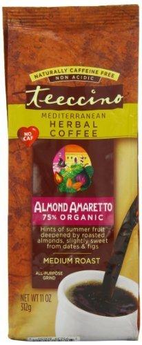Teeccino Mediterranean Herbal Coffee Almond Amaretto 11 oz (Almond Herbal Coffee)