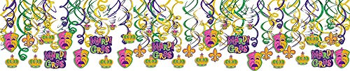 Mardi Gras Party Foil Swirl Decorating ()