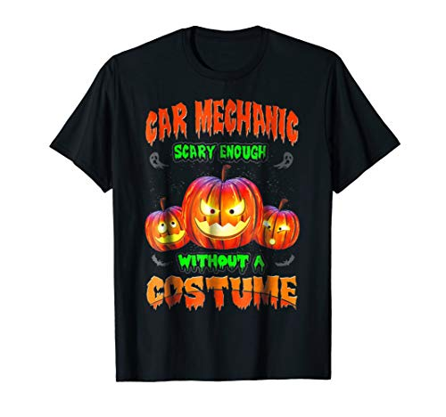 (Funny and Scary Car Mechanic T Shirt Halloween)