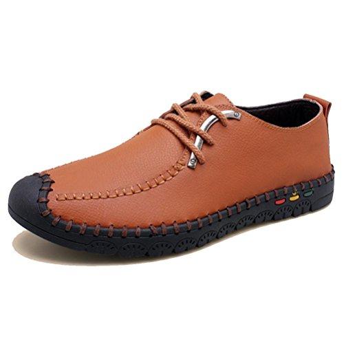Zapatos Redondos Casuales NSHX Cuero de yellow Hombre Zapatos Zapatos UqWII7Afw