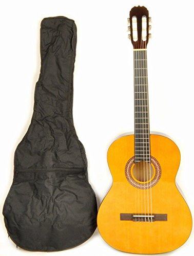 - Classical Acoustic Guitar Left Handed full size (38 inch) nylon string Omega Class Kit 1 LH w/carry bag