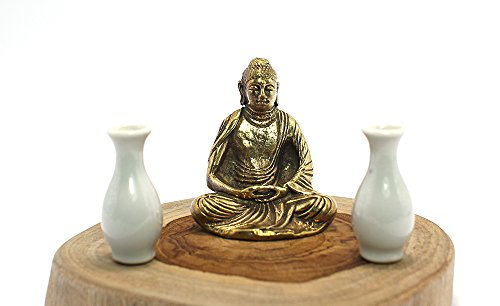Zen Garden Meditating Sitting Brass Buddha Statue accessories (Snowboard Resin)