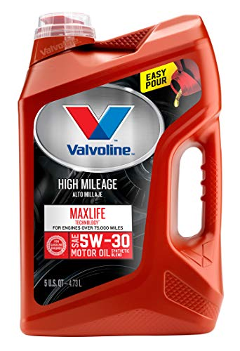 Valvoline  High Mileage with MaxLife  Technology SAE 5W-30 Synthetic Blend Motor Oil 5 QT (91 Honda Civic Engine)