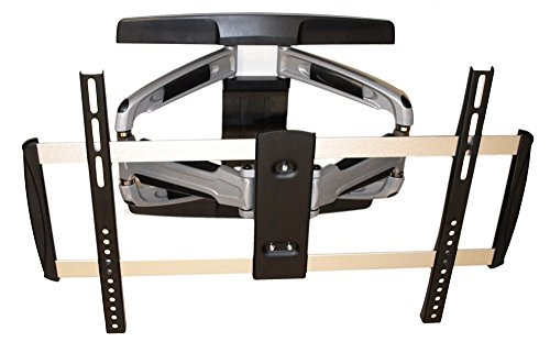 MyCableMart Full Motion 2-ARM Wall Mount Bracket 37-65 TV CAST Aluminum to 110lb (Extending Motion Mount Full 9)